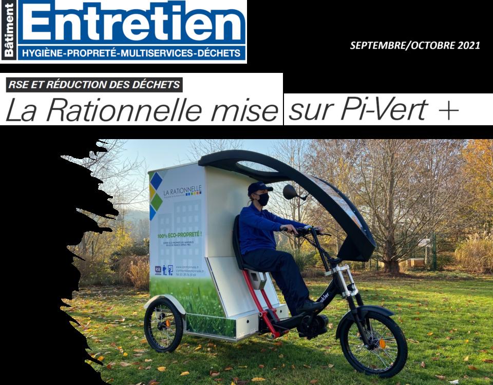 velo cargo La Rationnelle - organisation méthode bionettoyage